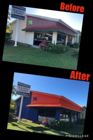 Shop front painting